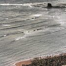 Walking in Saltwick Bay by Tom Gomez