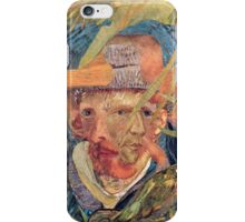 Van Gogh Laying in a Corn Field with Bullet Wound. iPhone Case/Skin