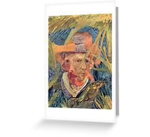 Van Gogh Laying in a Corn Field with Bullet Wound. Greeting Card