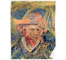 Van Gogh Laying in a Corn Field with Bullet Wound. Poster