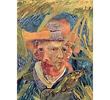 Van Gogh Laying in a Corn Field with Bullet Wound. Photographic Print