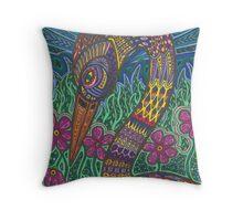 Color Crane Throw Pillow