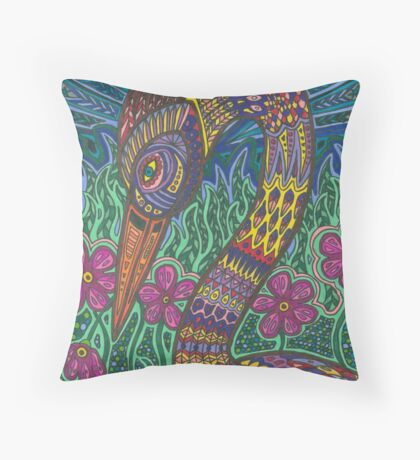 Color Crane Throw Pillow