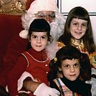 The Sisters & Santa in the 70's. by Lee d'Entremont