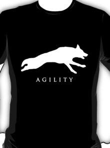 German Shepherd Sport Dog / Agility / White T-Shirt