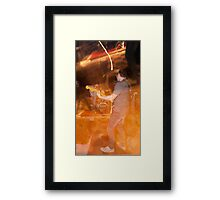 Indigo Yellow - Flame Framed Print