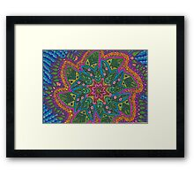 Flower Kaleidoscope Framed Print