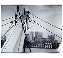 Canary Wharf from the Cutty Sark Poster