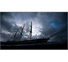 Cutty Sark at dusk Photographic Print