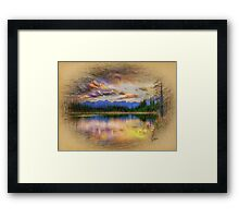 Blue Mountian Lake Framed Print
