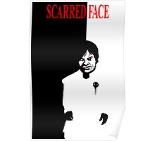Scarred Face Poster