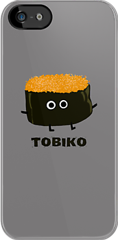 Tobiko - Flying Fish Roe Sushi by Jenn Inashvili