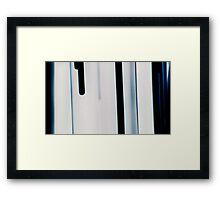 Blue Streaks Framed Print
