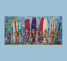 Surfer Gals by Hendude