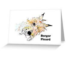 Berger Picard Watercolor Greeting Card
