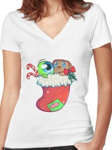 Tim and Sam x-mas! Women's Fitted V-Neck T-Shirt