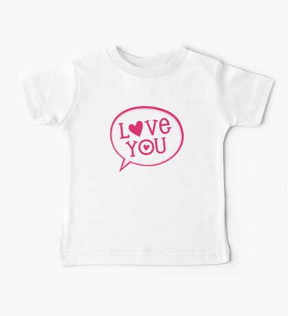 "LOVE BUBBLE modern typography heart ""love you"" Baby Tee"