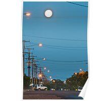 Moon over Lightning Ridge Poster
