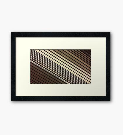 Lumina 6 - Mocha Diagonal Framed Print