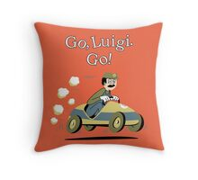 Go, Luigi. Go! Throw Pillow