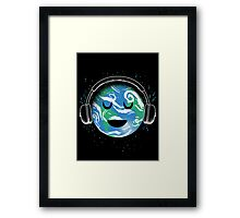 The whole planet loves music Framed Print
