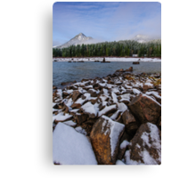 First Snow at Snoqualmie Pass Canvas Print