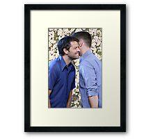 Cockles / Flower BG Framed Print