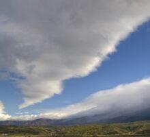 Clouds Over Cuyama Sticker