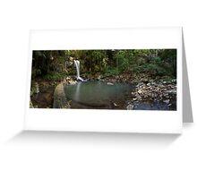 Curtis Falls Mt Tamborine Panorama Greeting Card