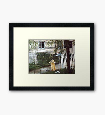 Morning mail Framed Print