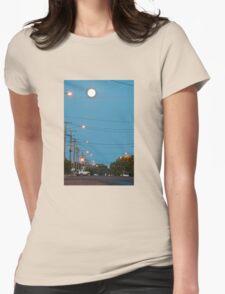 Moon over Lightning Ridge Womens Fitted T-Shirt