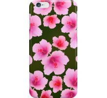 Pink rosemallow on deep green iPhone Case/Skin