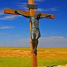 Jesus On The Cross iPad Case by ipadjohn