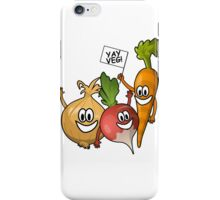 Yay vegetables! iPhone Case/Skin