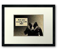 Arguing with a Badger Framed Print