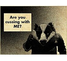 Arguing with a Badger Photographic Print