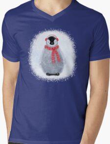 Chilly Little Penguin Mens V-Neck T-Shirt