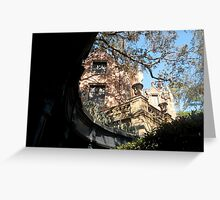 Haunted Mansion from the shadows Greeting Card