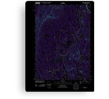 USGS TOPO Map New Hampshire NH Grantham 20120709 TM Inverted Canvas Print