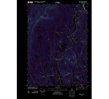 USGS TOPO Map New Hampshire NH Grantham 20120709 TM Inverted Photographic Print