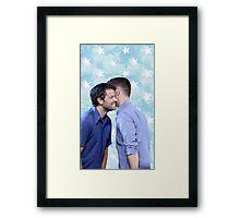 Cockles- star background Framed Print
