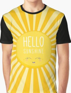 KIDS KAWAII - HAPPY SMILING SUN - HELLO SUNSHINE Graphic T-Shirt