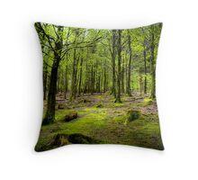 Green trees around Lake Buttermere, Lake District, UK Throw Pillow