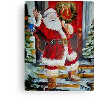 Merry Christmas Bubble Buddies Canvas Print
