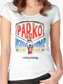 P A R K O Women's Fitted Scoop T-Shirt