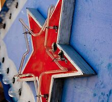 Star on a Vintage Neon Sign by laurenelisabeth
