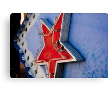 Star on a Vintage Neon Sign Canvas Print