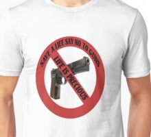 ☮ SAVE A LIFE SAY NO TO GUNS TEE SHIRT☮  Unisex T-Shirt