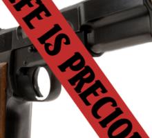 ☮ SAVE A LIFE SAY NO TO GUNS TEE SHIRT☮  Sticker