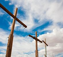 Crosses Stand in the Desert  by laurenelisabeth